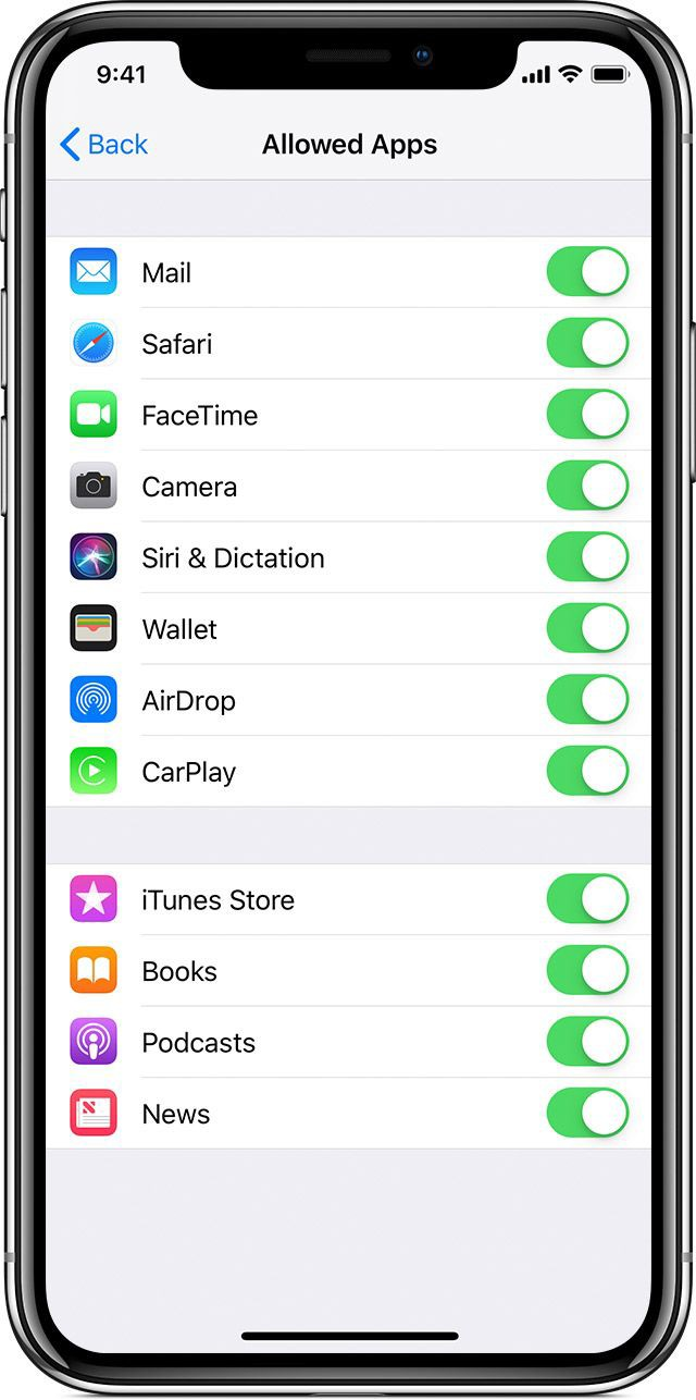 iPhone Restriction Applications