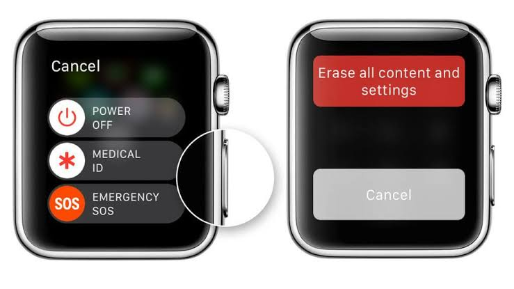 How to erase Apple Watch content