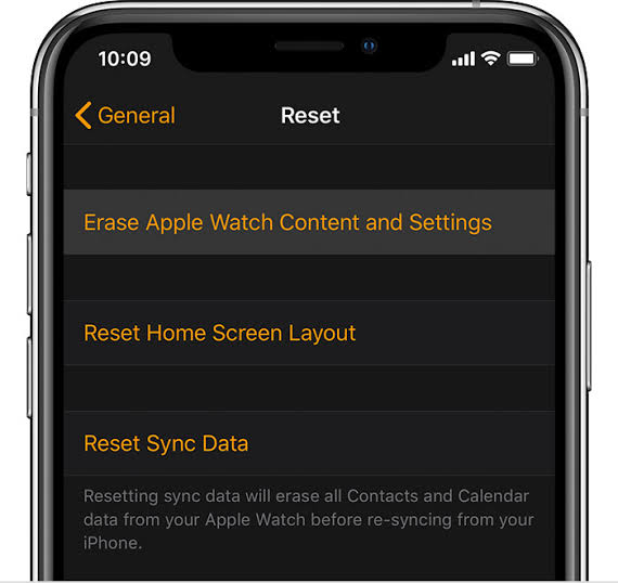 How to erase and reset Apple Watch content