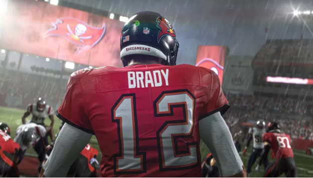 Madden NFL 21 sport game on ps5